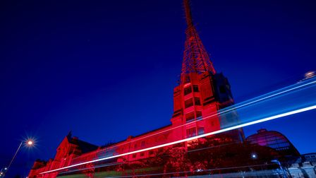 Alexandra Palace turned red on Monday night, in partnership with Zeal Productions, in solidarity wit