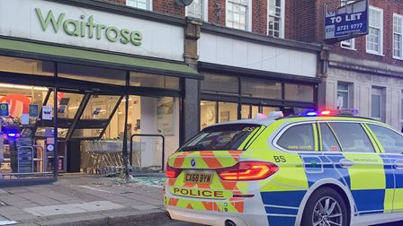 Temple Fortune's Waitrose fell victim to a ram-raid this week. Picture: Barnet Police