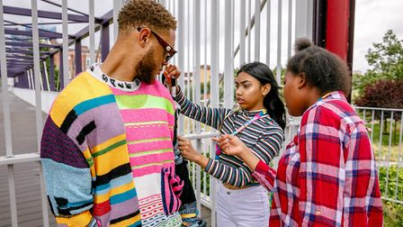Young people learn fashion design at East Summer School at Stratford's Olympic Park. Picture: Rahil