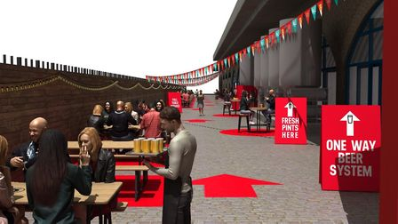 Camden Town Brewery's Brewery Bar in Kentish Town has gone alfresco