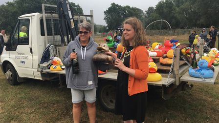Runner-up in the Best Dressed Duck, awarded to Kisty's Kutts. Picture: Conor Matchett