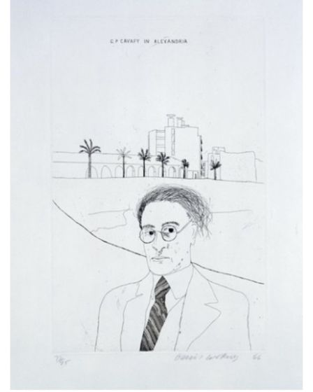 Portrait of Cavafy in Alexandria from Illustrations for Fourteen Poems by David Hockney