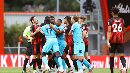 Tempers flare between Bournemouth and Tottenham Hotspur players
