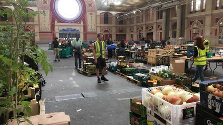 Jane took food parcels fron Edible London to Denham. Picture: Jane Leggett