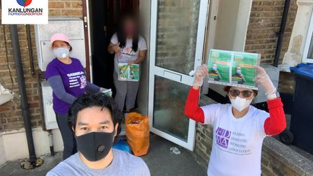 Kanlungan responded to the Covid-19 pandemic by supporting members of the Filipino community. Pictur
