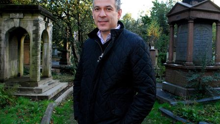 Dr Ian Dungavell chief exec of Highgate Cemetery. Picture: Polly Hancock