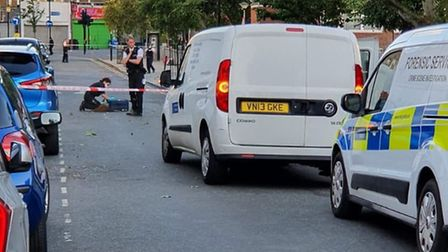 The man was attacked in Clarence Road. Picture: @999London