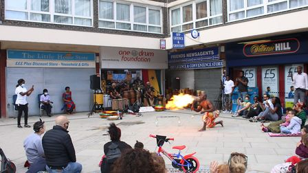 One Drum Foundation celebrated the NHS's 72nd birthday with a street performance on Haggerston Road.