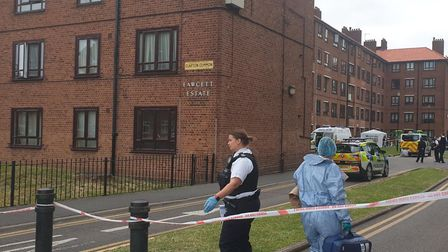 A man was stabbed on the Fawcett Estate. Picture: @999London