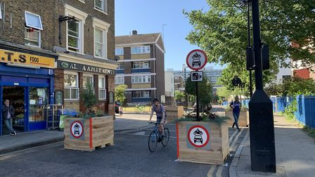 Barnabas Road was closed last month to help people maintain social distancing. Picture: Hackney Coun