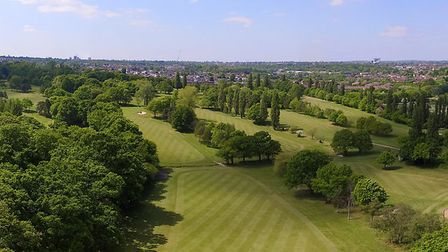 An aerial view of Muswell Hill Golf Club (pic Howard Bartrop/Camera In The Clouds)