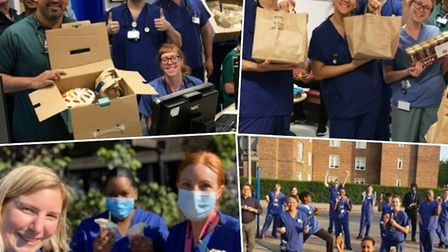 Homerton staff say thankyou for all the community support they have received during the coronavirus