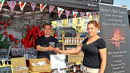 A stand at the chilli festival Picture: Mick Howes