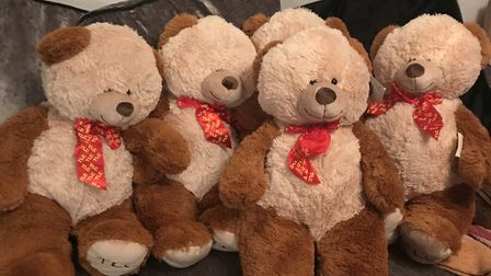 Teddy bears are being given to children admitted at hospitals like Homerton to help alleviate stress