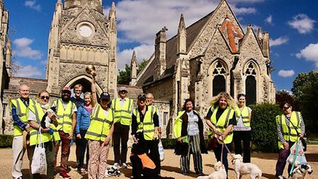 Volunteers from the Friends of Hampstead Cemetery, pictured on July 5 - their final day of duty. Pi