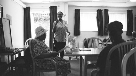 Lydia Julien performing Me Say you Say at Peppie Close. Picture: Hackney Community Library Services