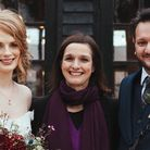 Caroline Lambie (centre) at a humanist wedding in Hampshire. Picture: Jackson and Co Photography