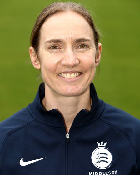 Beth Morgan at a Middlesex Cricket media day in 2018