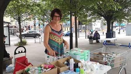 Hoxton resident Claudia Stachelhaus has spent her lockdown organising toiletry drop-offs for rough s