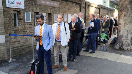 MCC members queue to get into Lord's before the 2019 Ashes Test between England and Australia