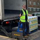Food supplies heading out to Trussel Trust foodbanks in Hackney and Beckton during Pandemic crisis.