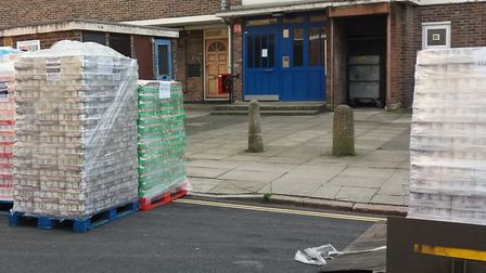 Oops... emergency food supplies parked on double yellow lines? Picture: Trussel Trust