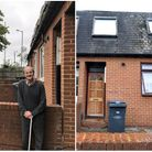 Woodside Avenue resident James Farmer, 85 (left) and number 106 (right) which Haringey Council bough