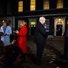 (Left to right) BBC News presenter Fiona Bruce, BBC Political Editor Laura Kuenssberg, Sky News pres