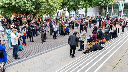 Hundreds gathered to protest the council's plans to move Sistah Space back into its former premises.