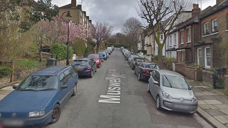 Muswell Hill Place, where a 17-year-old was stabbed on July 11. Picture: Google Maps