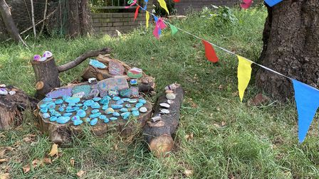 The new stones in Nazanin's Garden at the Royal Free. Picture: Linda Grove