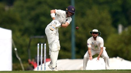 Middlesex's Nick Gubbins in action during day one of The Bob Willis Trophy match at Radlett Cricket