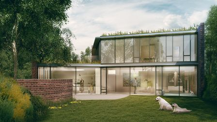 An artist's impression of one of the homes planned for 55 Fitzroy Park. Picture; Adam Clemens