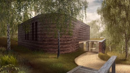 An artist's impression of plans for 55 Fitzroy Park. Picture: Adam Clemens / Fathom Architects