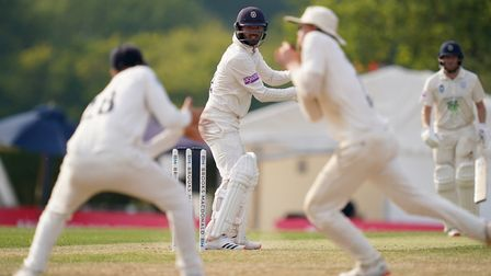 Hampshire's Ian Holland is caught behind by Middlesex's Sam Robson during day two of The Bob Willis