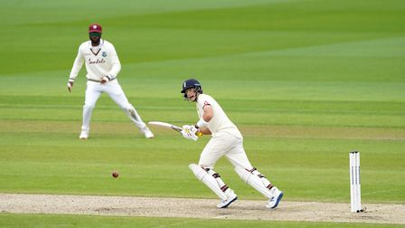 England captain Joe Root bats during day one of the Second Test at Emirates Old Trafford