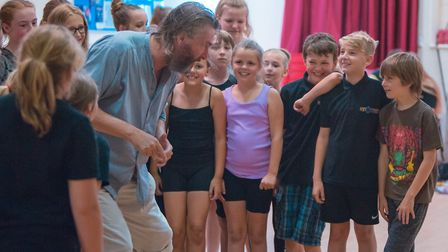 Fagin and the gang in rehearsals for the community production of Lionel Bart's musical Oliver!