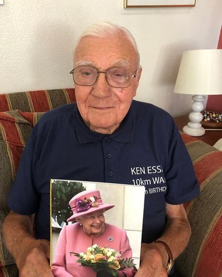 A 100th birthday letter from the Queen. Picture: Kenneth Essex family