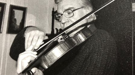 Kenneth has played the viola for The Beatles and Fawlty Towers. Picture: Kenneth Essex family