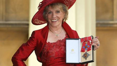 Esther Rantzen after she was made a Dame by the Princess Royal at an investiture ceremony at Bucking