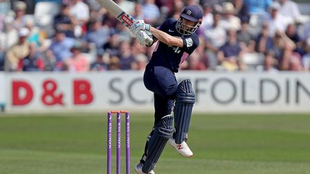 John Simpson in batting action for Middlesex against Essex in the Royal London One-Day Cup (pic Nick