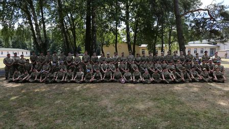 """The Lowestoft based """"B"""" Company won best company at their annual camp in Germany. Picture: Suffolk A"""
