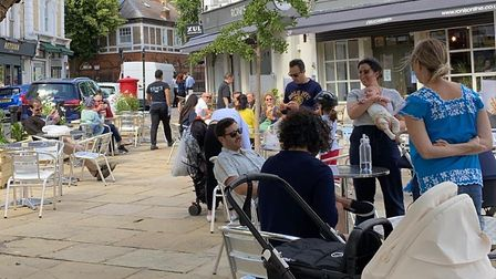 Belsize Village's streatery where customers are being served alfresco. Picture: Belsize Village Busi