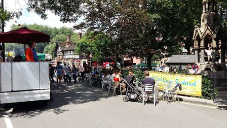 The slip road is closed every year for the South End Green Festival. Picture: Archant