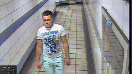 The man British Transport Police want to speak to about a reported sexual assault in Finchley Road T