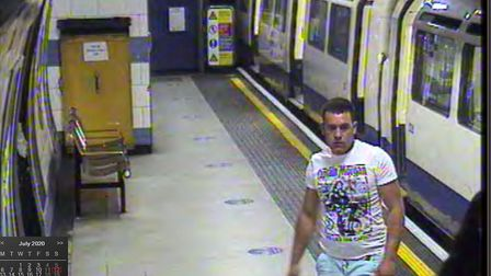 Police want to speak to this man over an reported July 12 assault in Finchley Road station. Picture: