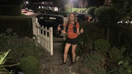 Jane returning to her Muswell Hill home at 10.45pm. Picture: Dr Jane Stephens
