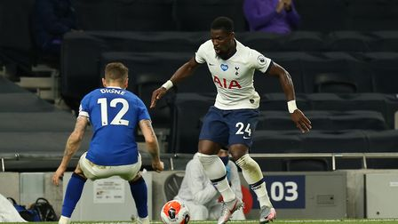 Serge Aurier of Tottenham Hotspur and Lucas Digne of Everton during Tottenham Hotspur vs Everton, Pr