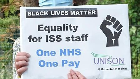 Union members at Homerton Hospital have reignited a campaign for equality for outsourced staff. Pict