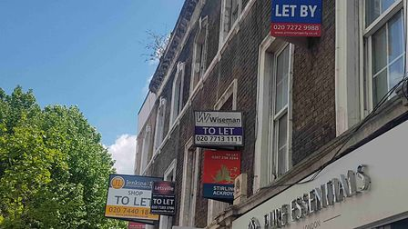 Advertising boards for estate agents in King's Cross Road. Picture: Camden Council